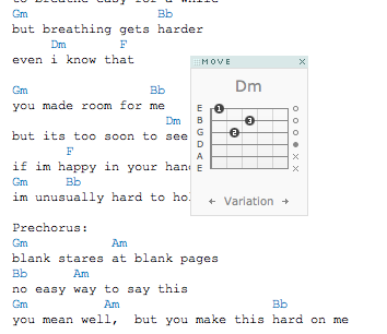 Move along guitar chords